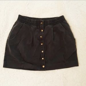 H&M Button-up Mini Skirt